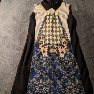 DOLCE & GABBANA Alice in Wonderland Shift Dress